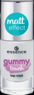 Верхнее покрытие с матовым эффектом Gummy Touch Top Coat Essence 31 bounce bounce: фото
