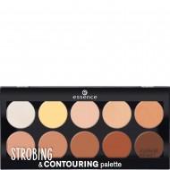 Палетка для стробинга и контурирования 10 в 1 Essence Strobing & contouring palette: фото