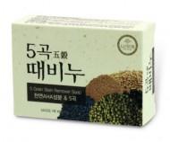 Отшелушивающее мыло с экстрактами 5 злаков DONGBANG 5 Grain stain remover soap 100 г: фото
