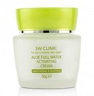 Увлажняющий крем для лица с алоэ вера 3W CLINIC Aloe Full Water Activating Cream 50г: фото