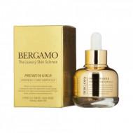 Ампульная сыворотка с золотом антивозрастная Bergamo Premium Gold Wrinkle Care Ampoule, 30г: фото