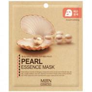 Маска для лица тканевая жемчуг Mijin PEARL ESSENCE MASK 25гр: фото