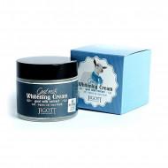 Осветляющий крем для лица с экстрактом козьего молока JIGOTT Goat Milk Whitening Cream: фото